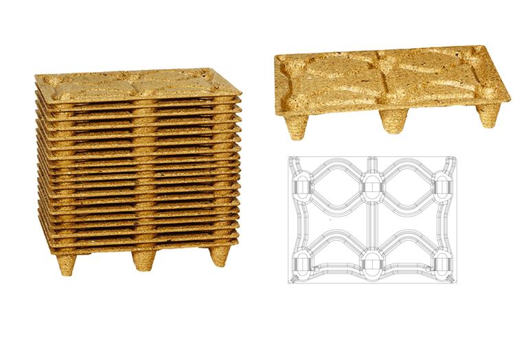 Geperste houtvezel pallets 60x80