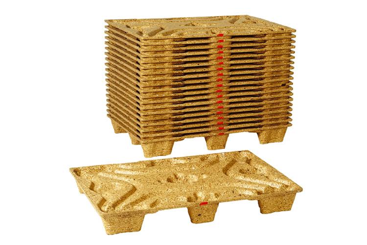 Geperste houtvezel pallets 80x120 voor 1250 kg
