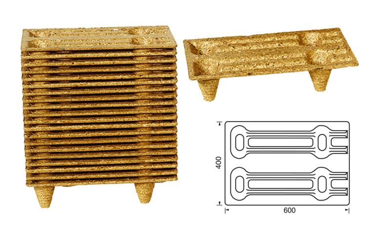 Geperste houtvezel pallets 40x60