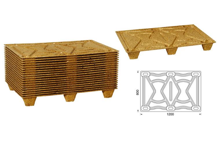 Geperste houtvezel pallets 80x120