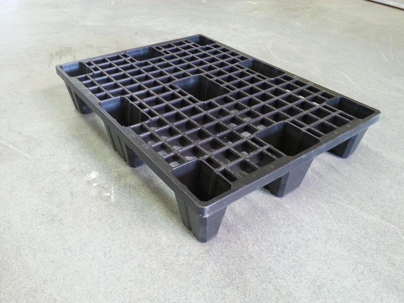 Kunststof pallet 60x80 met 9 voeten