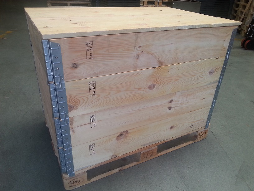 Exportkist palletranden 80x120x80cm conf. ISPM 15